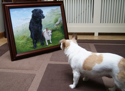 Jess and the portrait