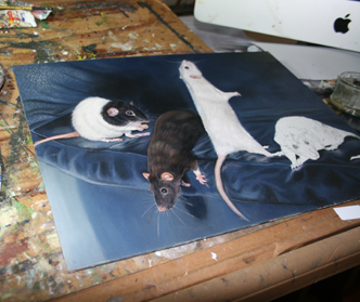 Rat painting progress
